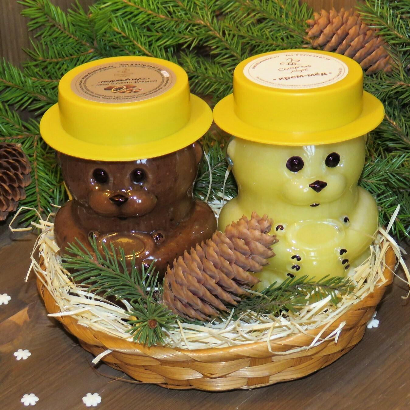 """Подарочный набор """"Два медведя""""."""