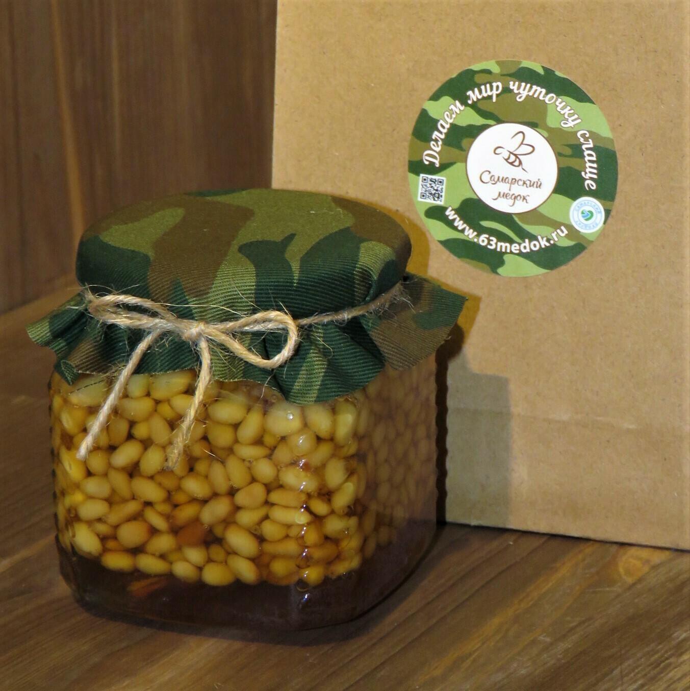Кедровые орешки в меду, 250 мл.