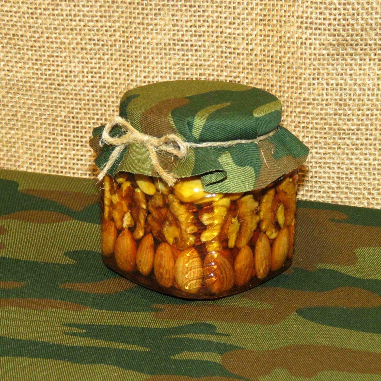 Орехи в меду (рядами), 390 мл.