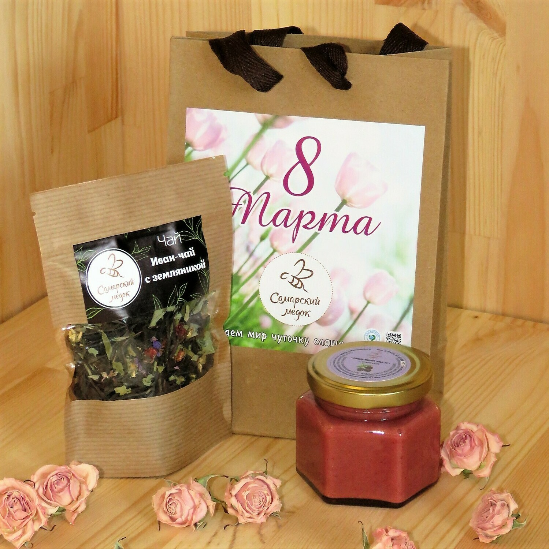 Баночка 100 мл. и травяной чай 15 гр. (4 варианта)