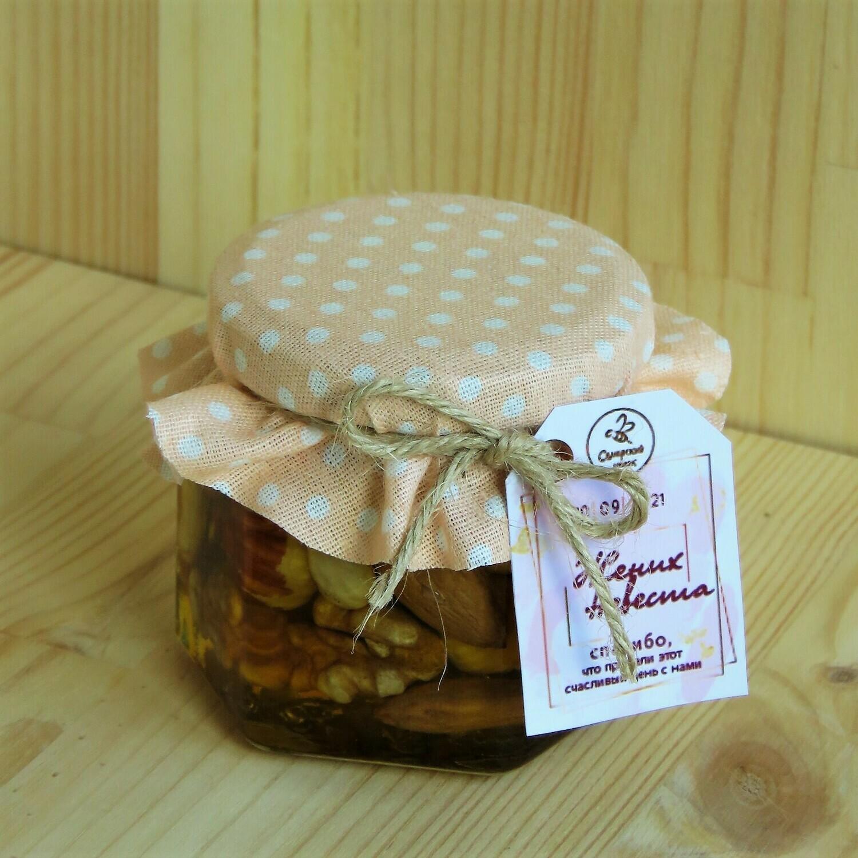 Баночка с орешками в меду, 100 мл.