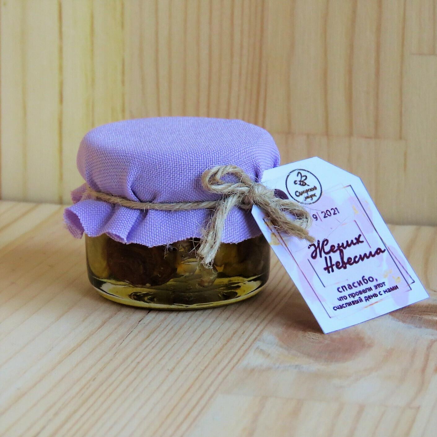 Баночка с орешками в меду, 25 мл.
