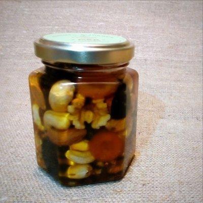 Орехи и сухофрукты в меду, 165 мл.
