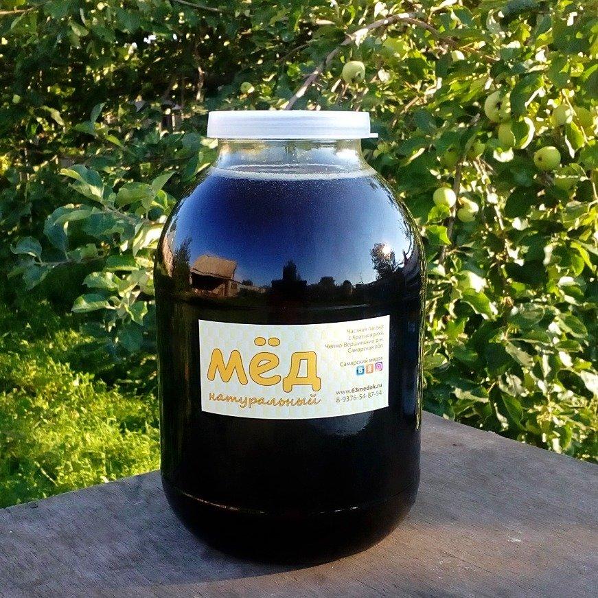 Мёд гречишный, 3 л.