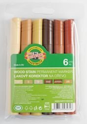 Markers Permanent Wood Koh-I-Noor Set of 6
