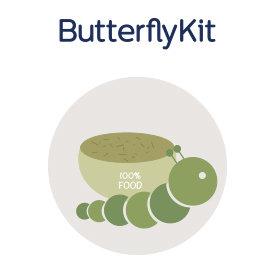 Ricarica bruchi e mangime ButterflyKit