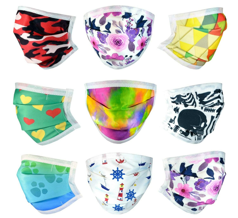 Female Face Masks with Filter Pocket