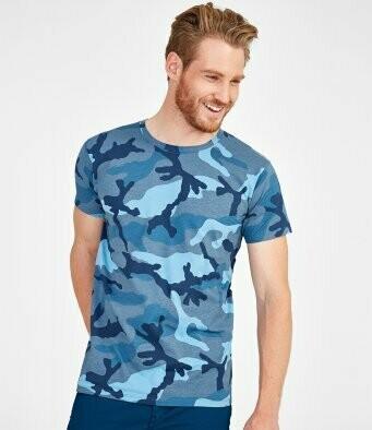 Men's Camo T-Shirt + 2 Matching Masks