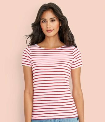Women's Striped T-Shirt + 2 Matching Masks
