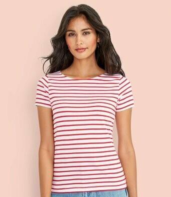 Women's Striped T-Shirt + 2 Matching Masks