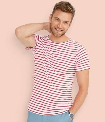 Men's Striped T-Shirt + 2 Matching Masks