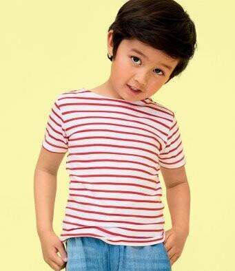 Children's Striped T-Shirt + 2 Matching Masks