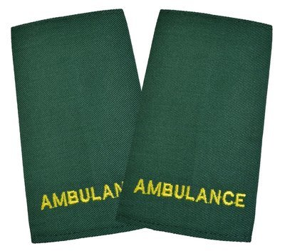 Ambulance | Stock held EMBROIDERED Epaulette Sliders