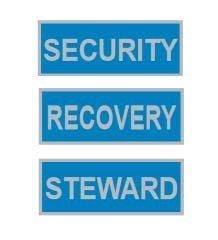 Hi-Viz Reflective Back Badges | Blue