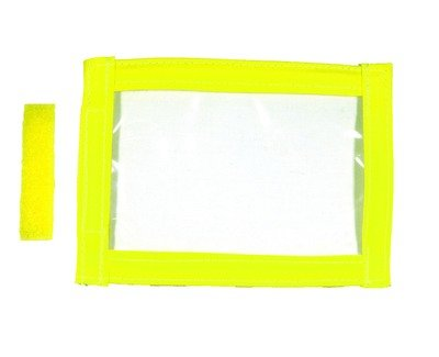 Hi-Viz Yellow | Sew On I.D Badge Holder