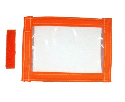Hi-Viz Orange | Sew On I.D Badge Holder