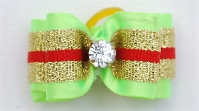 Bows with wide gold band