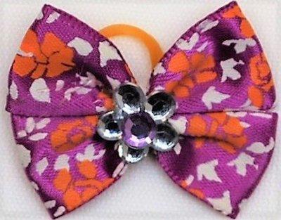 Flower Bead Dog Bows