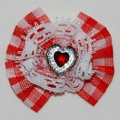Heart Checker Dog Bows