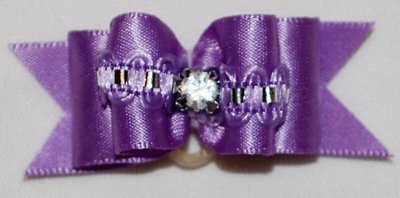 Silk Dog Bow w/thin lace