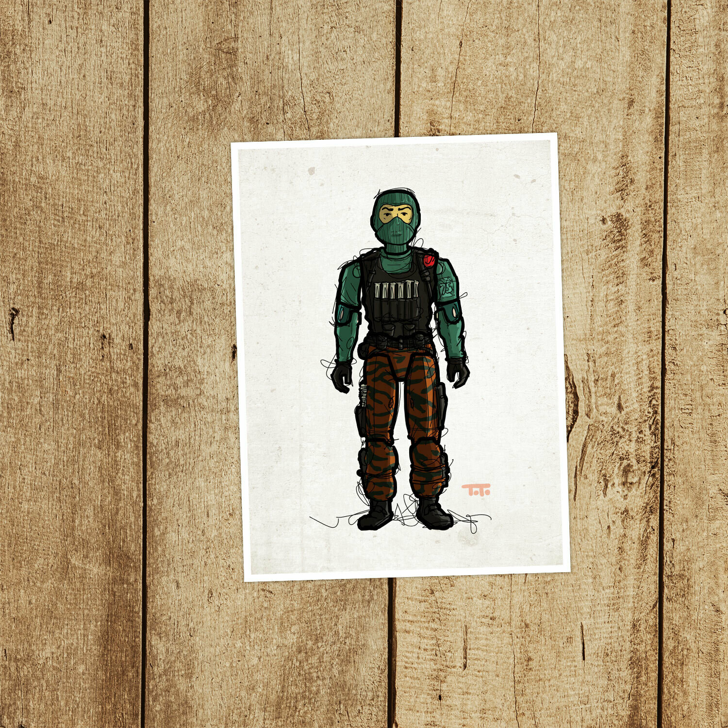 "GIJOE365 080: ""Beach Head"" prints"