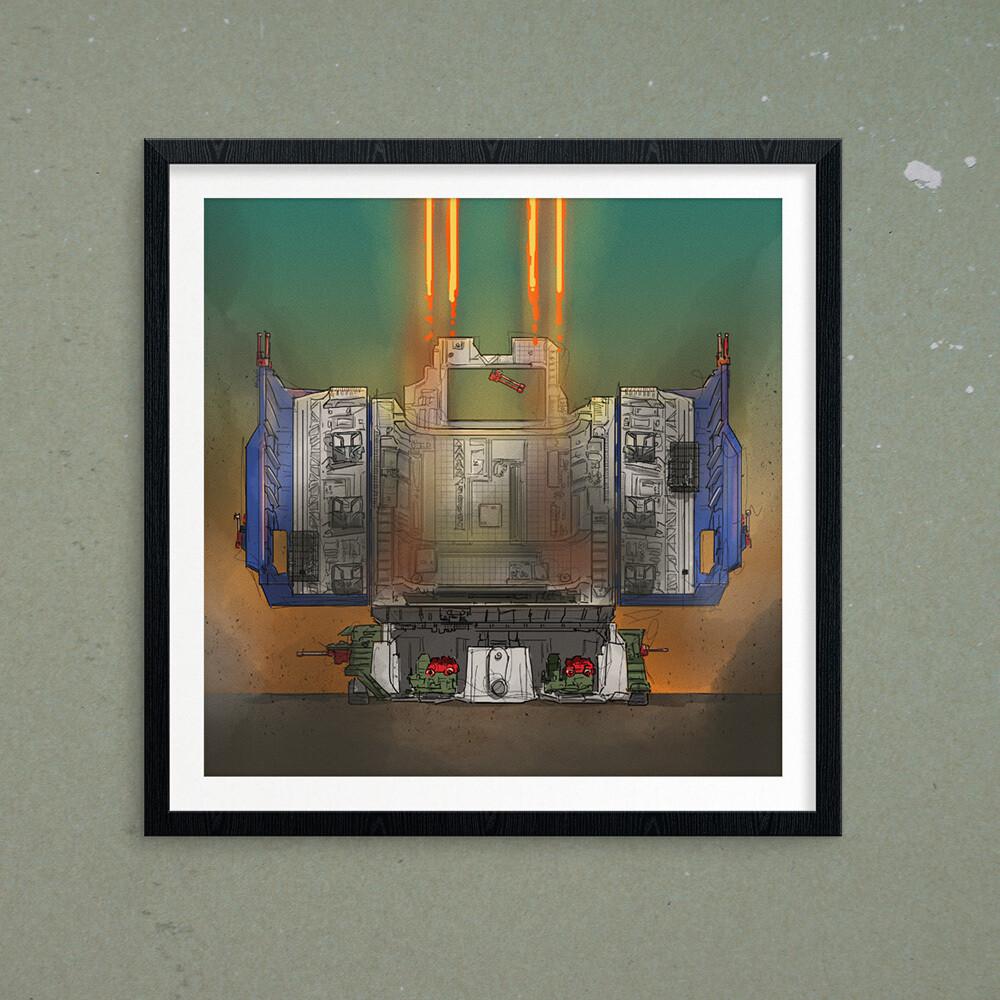 "GIJOE365 ART PRINT - ""Defiant p1: Gantry"""