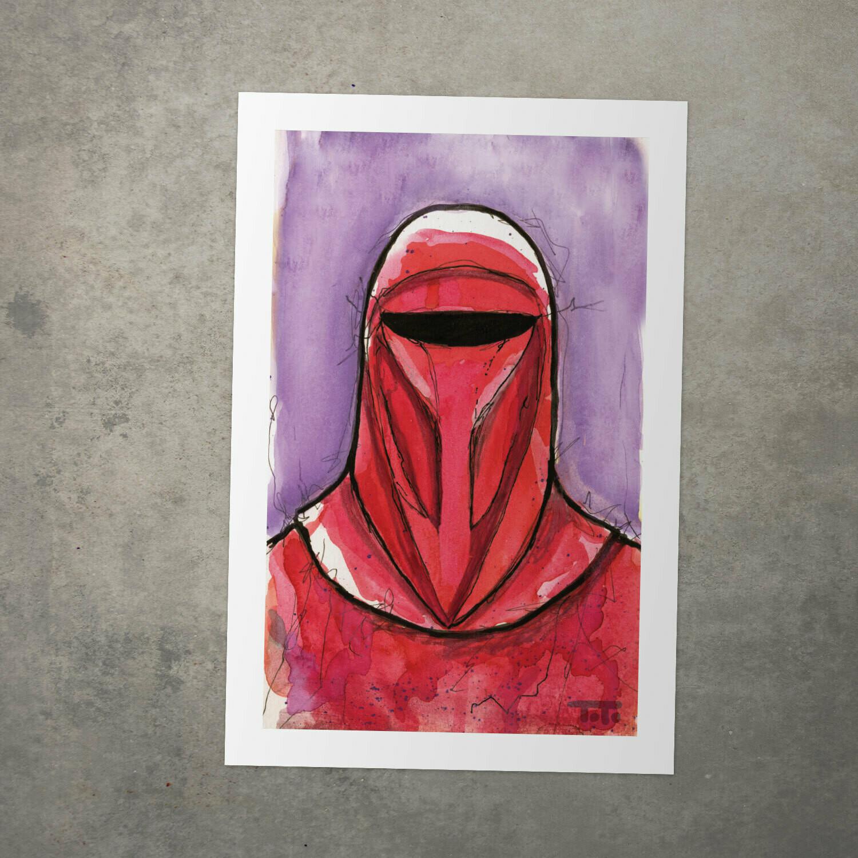 "Star Wars Watercolour Print - ""Imperial Guard"""