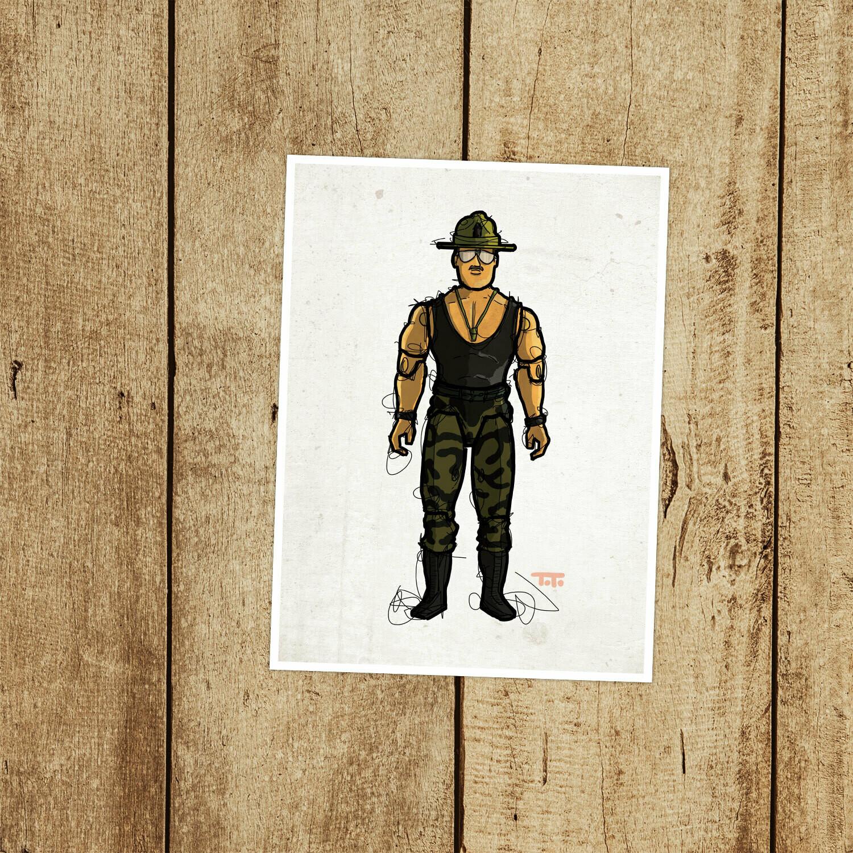 """GIJOE365 106: """"Sgt. Slaughter"""" (v2) prints"""