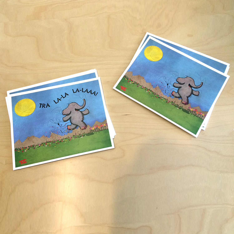 """Traipsing Elephant"" Prints"