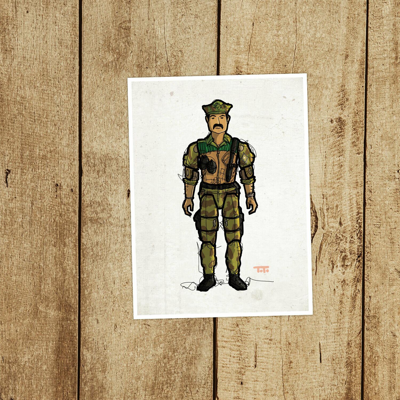 "GIJOE365 085: ""Leatherneck"" prints"