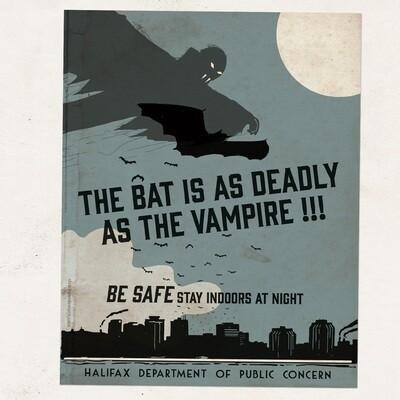 HW - POSTER - Bat - Blue