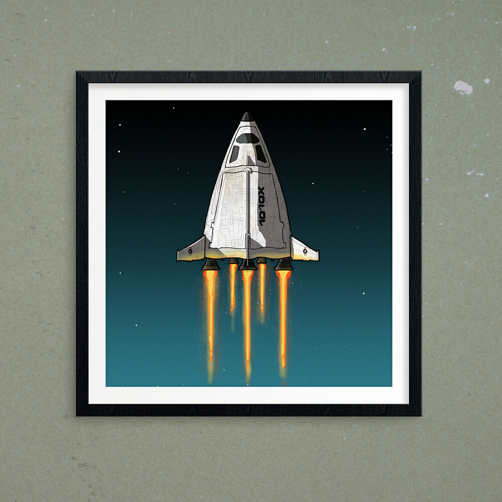 "GIJOE365 ART PRINT - ""Defiant p3: Shuttle"""