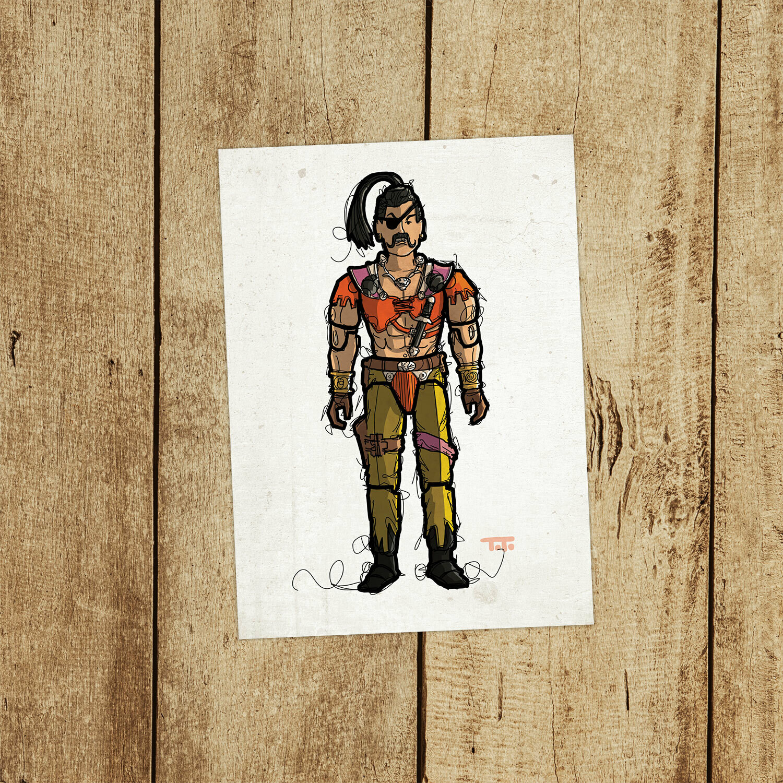 """GIJOE365 137: """"Zanzibar"""" prints"""