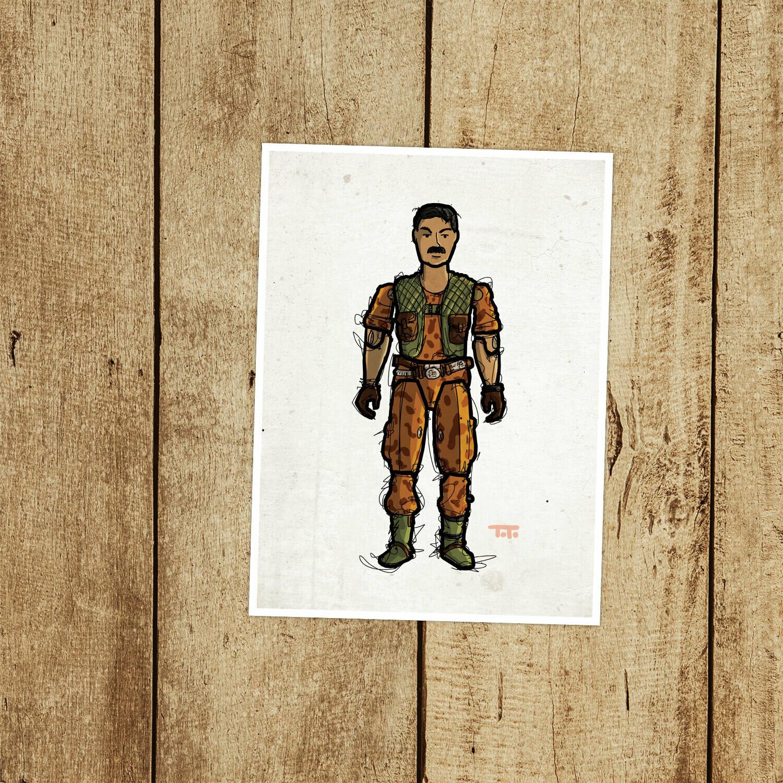 "GIJOE365 096: ""Claymore"" prints"