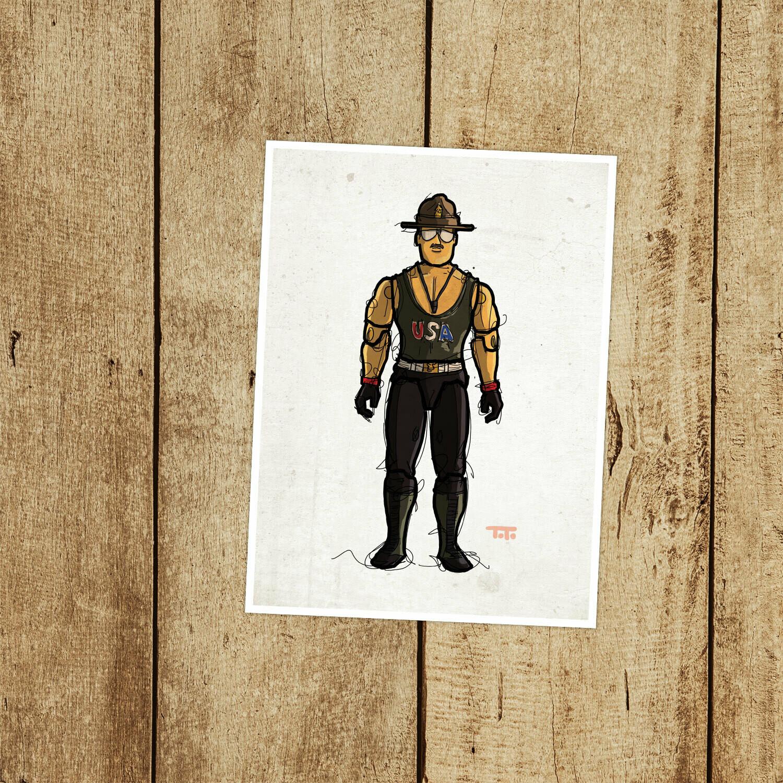 """GIJOE365 110: """"Sgt. Slaughter"""" (v1) prints"""
