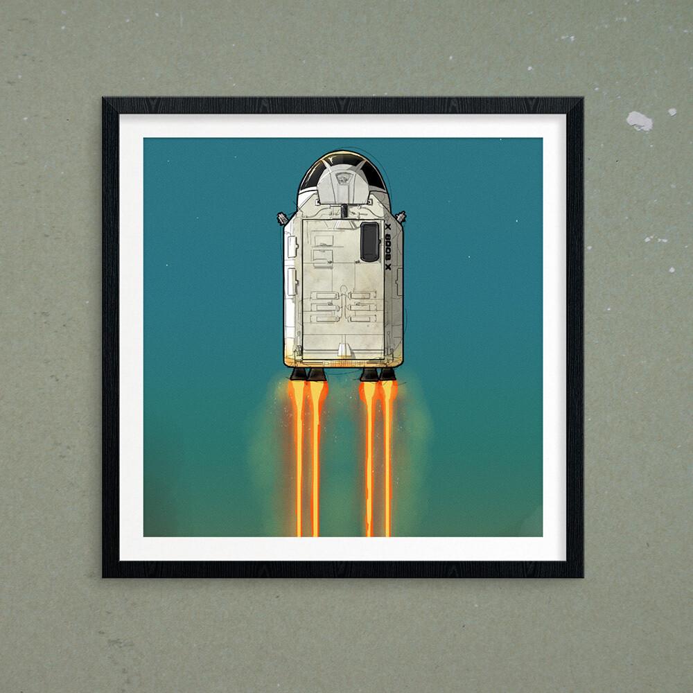 "GIJOE365 ART PRINT - ""Defiant  p2: Booster"""