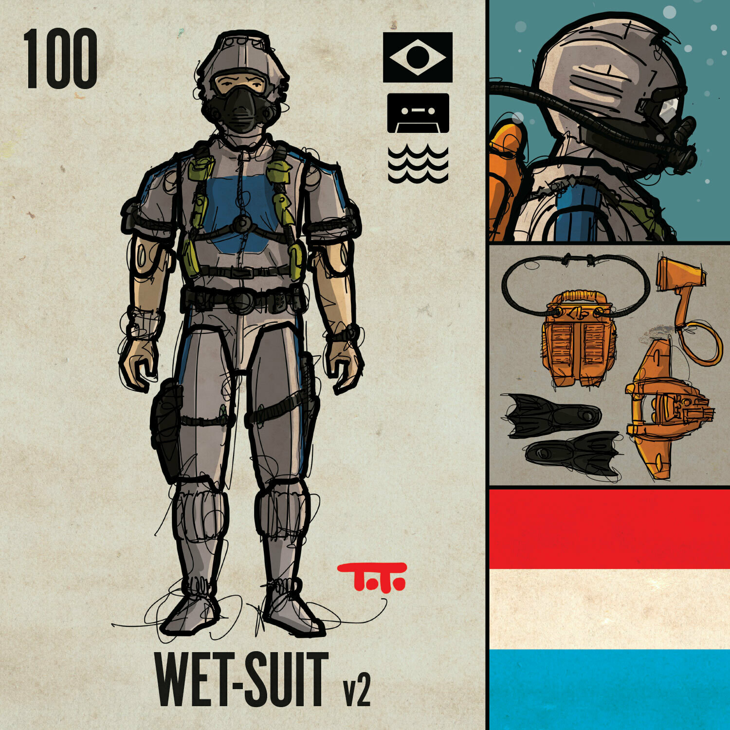 G365 SQ-100 WET-SUIT v2