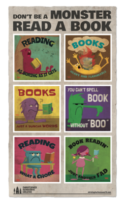 POSTER - Monster Books
