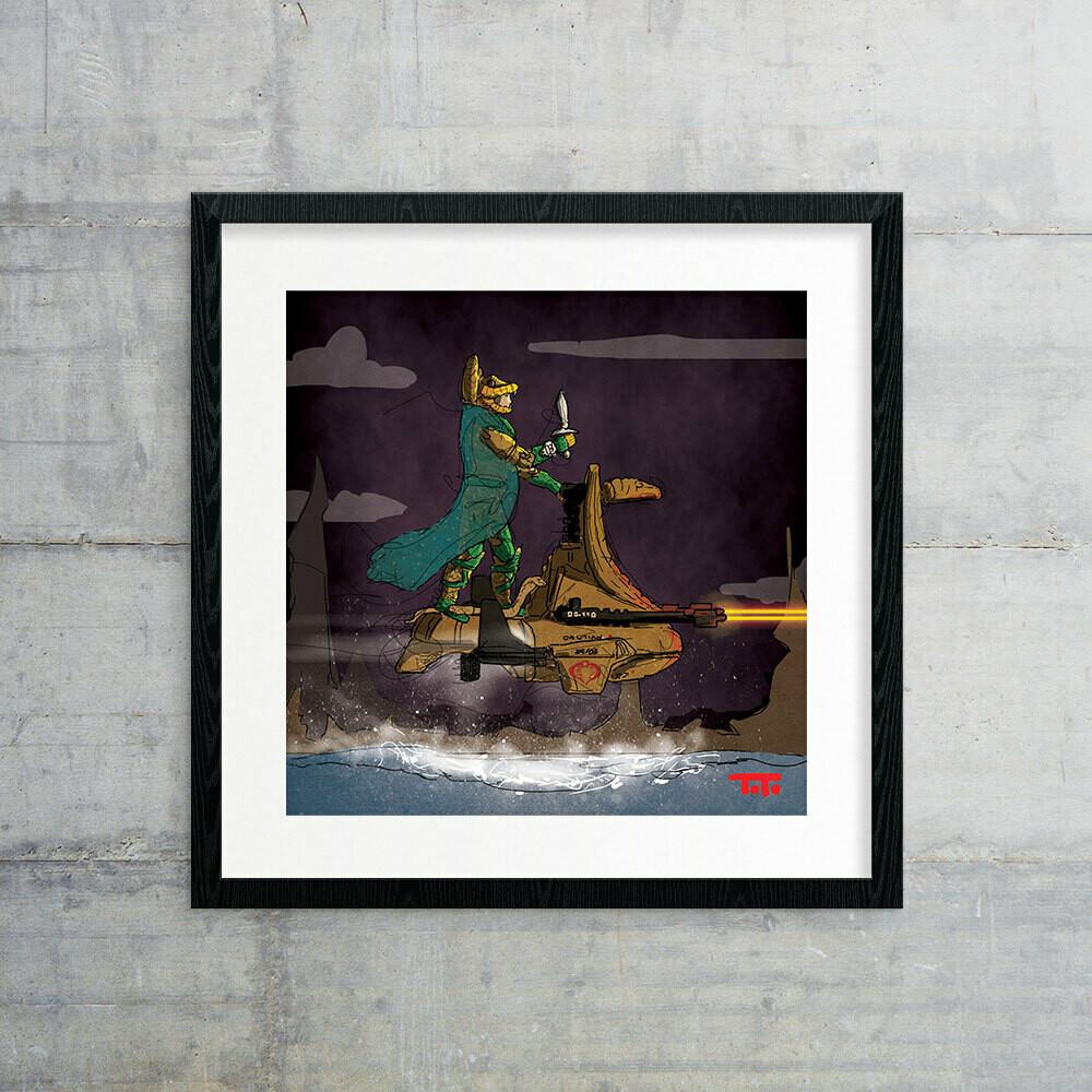 "GIJOE365 ART PRINT - ""Serpentor"""