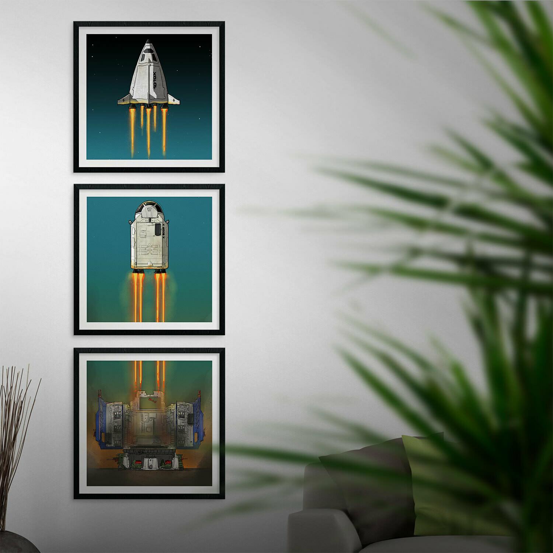 "GIJOE365 ART PRINT PACK - ""Defiant Launch"""