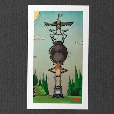 Canada Day 2016 Totem Print