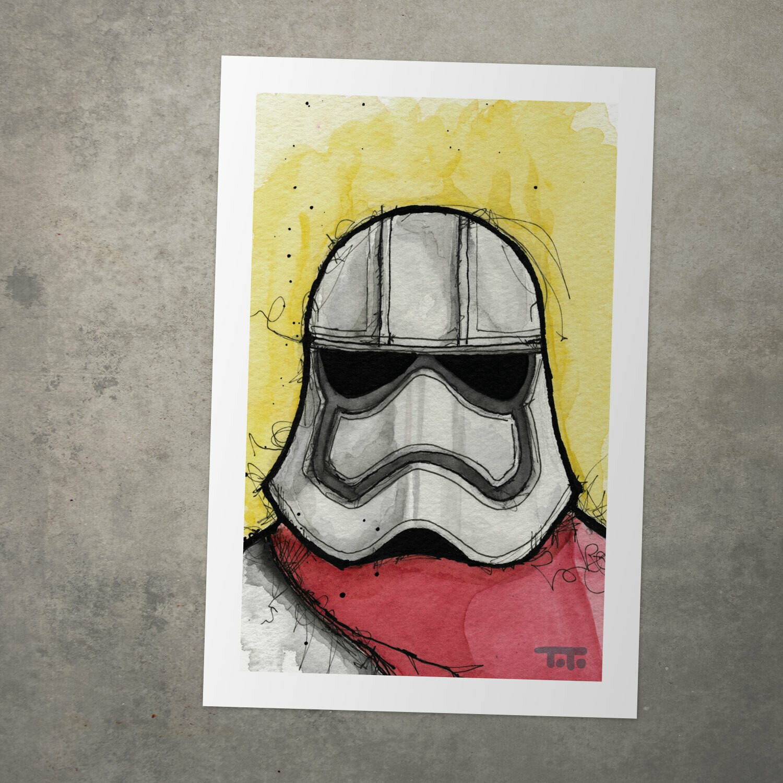 "Star Wars Watercolour Print - ""Captain Phasma"""