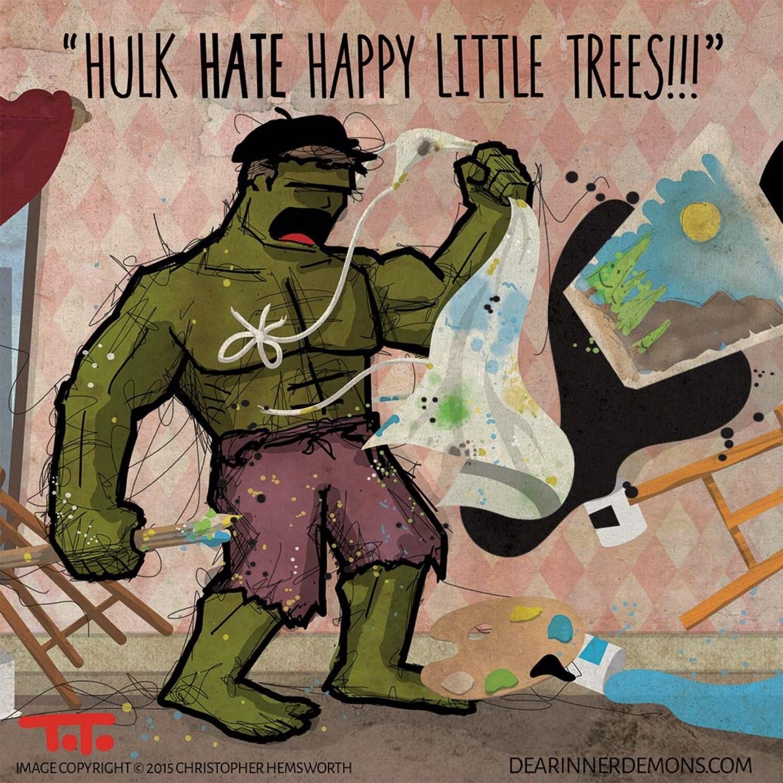 POSTCARD - DID - SH - Hulk