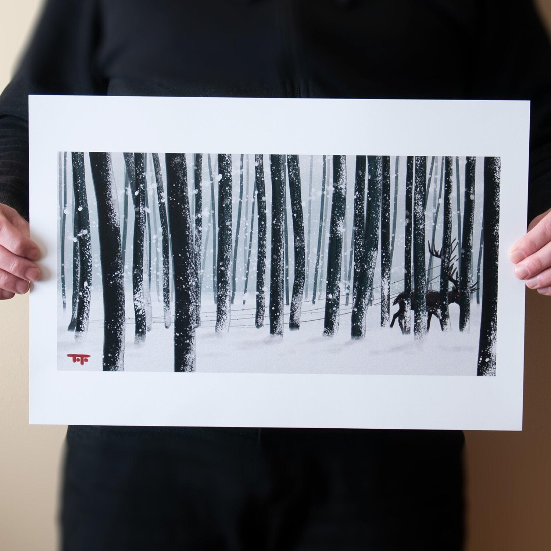"""Dark Stag"" Print"