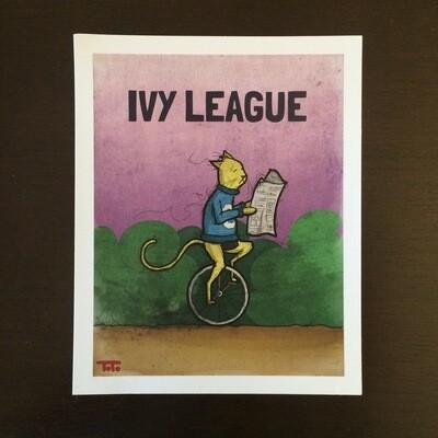 """""""Ivy League Cat"""" Print"""