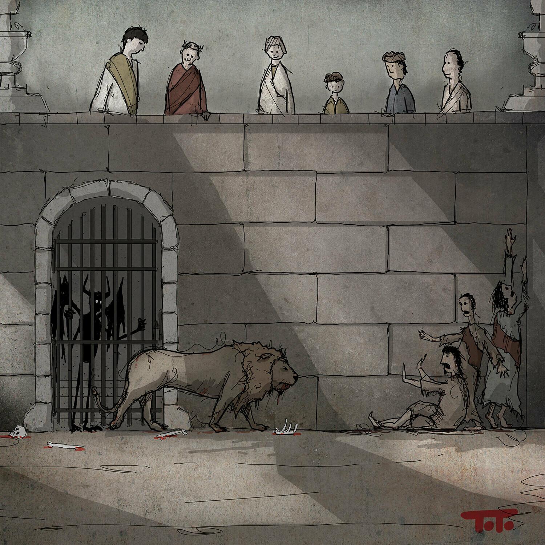 Demon POSTCARD - 09 - LIONS