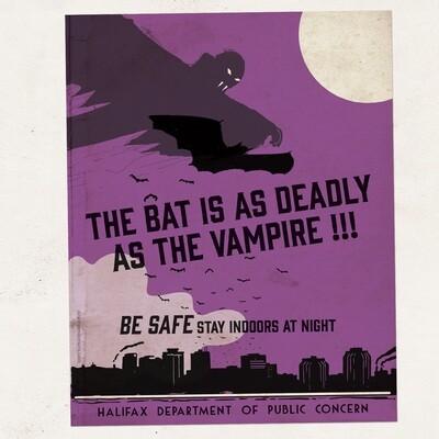 HW - POSTER - Bat - Purple