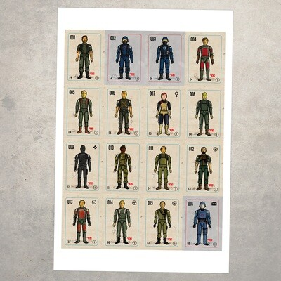 GIJOE365 POSTER - 1982 Figures
