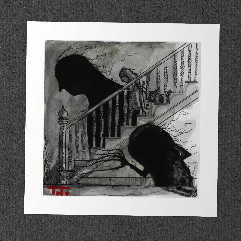 """Poor Perceval - """"STAIRCASE"""" Print"""