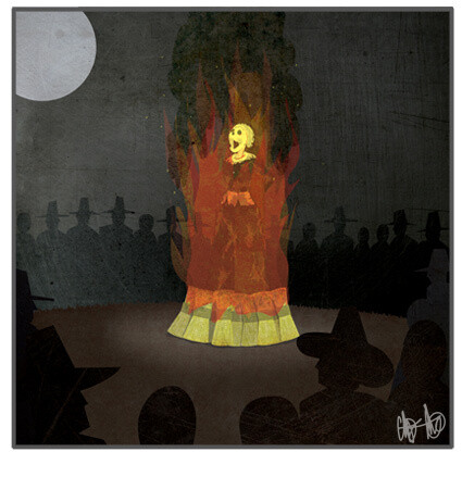 """Last Words """"Witch Burning"""" Print"""